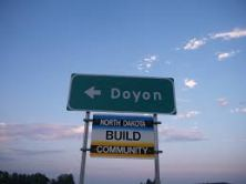 Doyon road sign