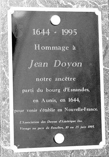 Jean Doyon Plaque